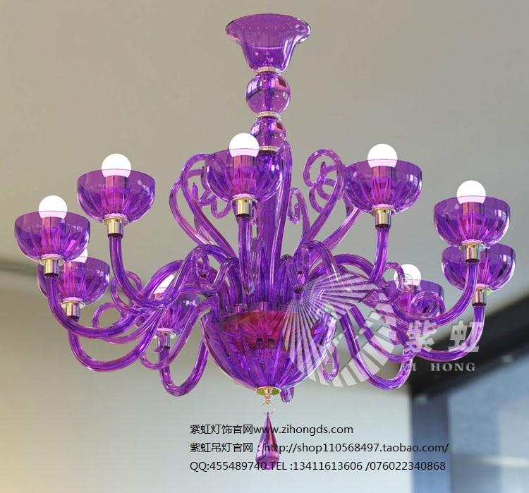 奶白蜡烛灯具批发LED餐厅吊灯 紫虹灯饰
